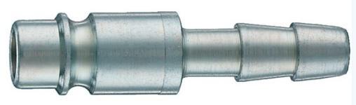 """Штуцер б/с 15/C  D.8, тип ''папа"""", соед. """"ёлочка"""" под резиновый шланг с внутр. Ø8мм."""