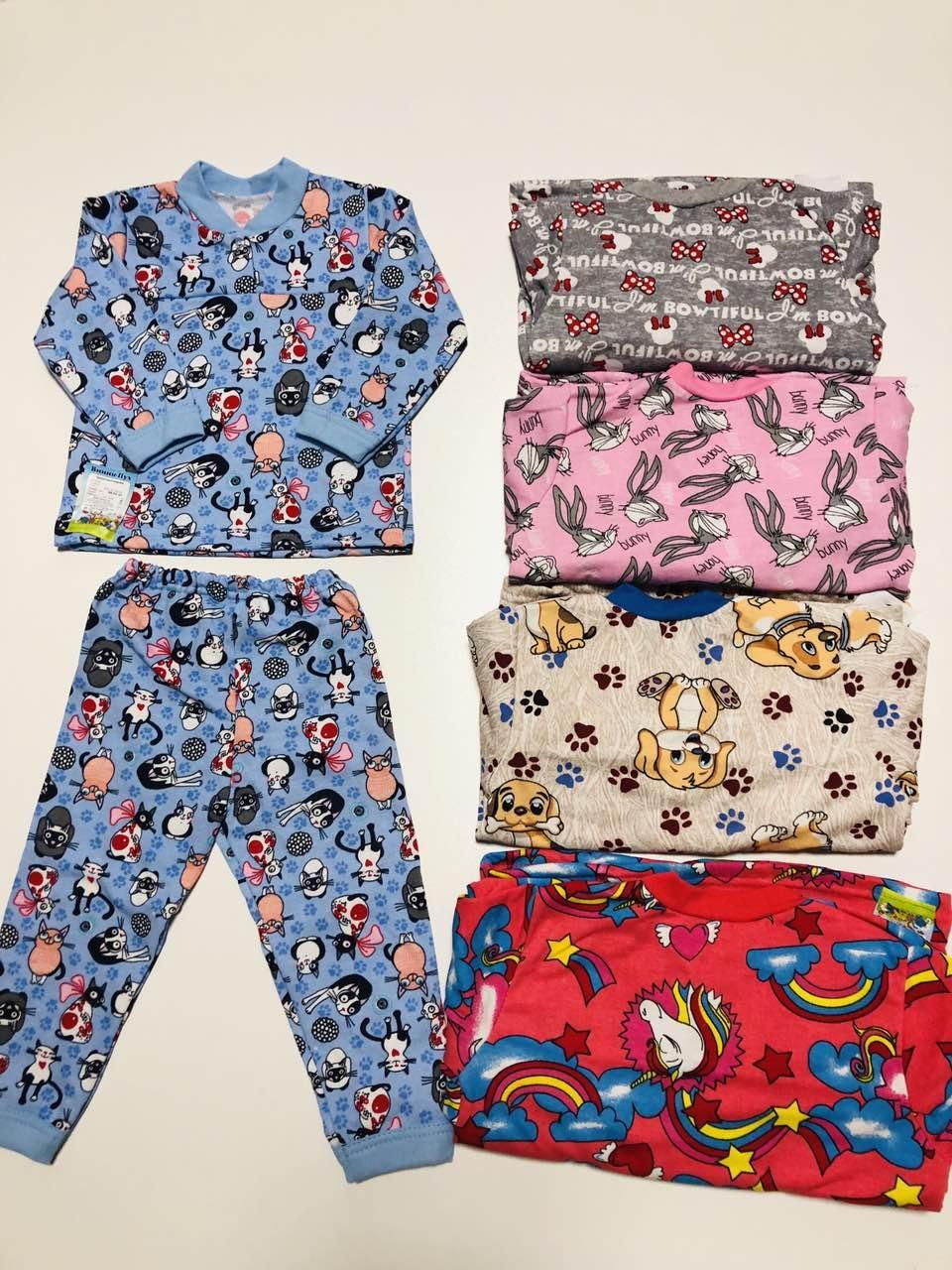 Пижама детская, футер евро, р.80,86,92-98,104-110,116-122