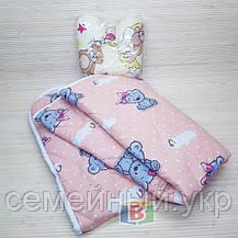 Подушка бабочка с хлопковым одеялом. Размер одеяла: 140х110 см. Разные цвета!, фото 3