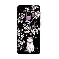 Чехол с рисунком Printed Silicone для Samsung A605 Galaxy A6 Plus 2018 Кошка