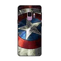 Чехол с рисунком Printed Silicone для Samsung A605 Galaxy A6 Plus 2018 Щит Капитана Америки