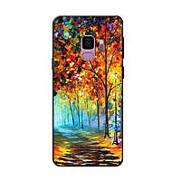 Чехол с рисунком Printed Silicone для Samsung A605 Galaxy A6 Plus 2018 Осенний Лес