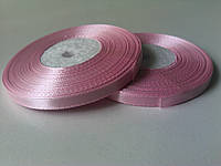 Лента атласная розовая 6 мм бобина 33 м