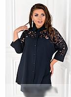 Сорочка-туніка з гипюровыми вставками, з 48-52 розмір