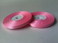 Лента атласная ярко - розовая 6 мм бобина 33 м