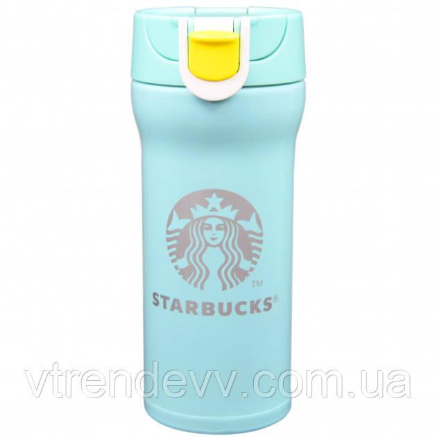 Термокружка термос Starbucks Старбакс 380 мл Бирюзовая