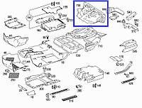 Ковер, задняя часть Mercedes GL 450 V8, X164, 2007 г.в. A1646801618