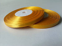 Лента атлас жёлтая 6 мм бобина 33 м