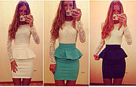 """Женское модное платье """"Баска-габардин"""" - 3 цвета!"""