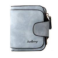 Женский замшевый кошелек Baellerry Forever  N 2346   клатч   портмоне голубой джинс