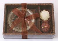 Набор: 2 свечи + стеклянный подсвечник, 4 см BonaDi 3280132