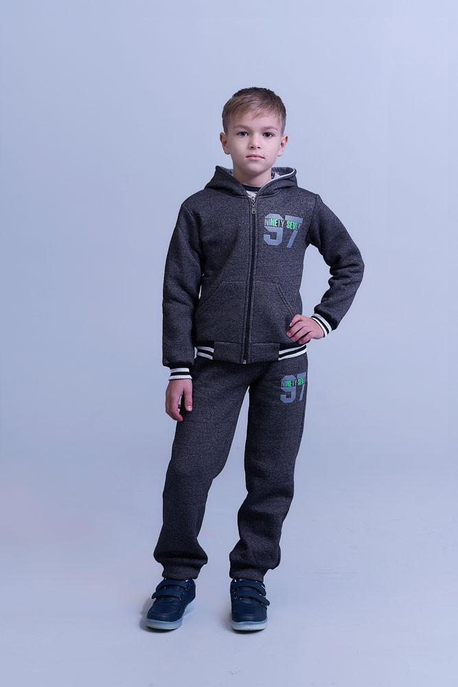 Детский спортивный костюм двойка кофта и штаны трикотаж трехнить подросток размер:122,128,134,140,146