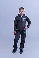 Детский спортивный костюм двойка кофта и штаны трикотаж трехнить малютка размер: 98, 104, 110, 116