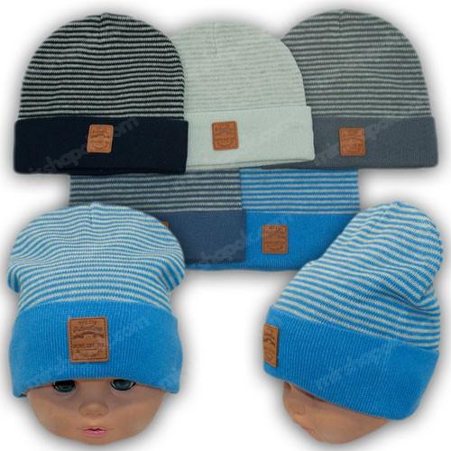 Осеняя шапка ребенку р. 44-46