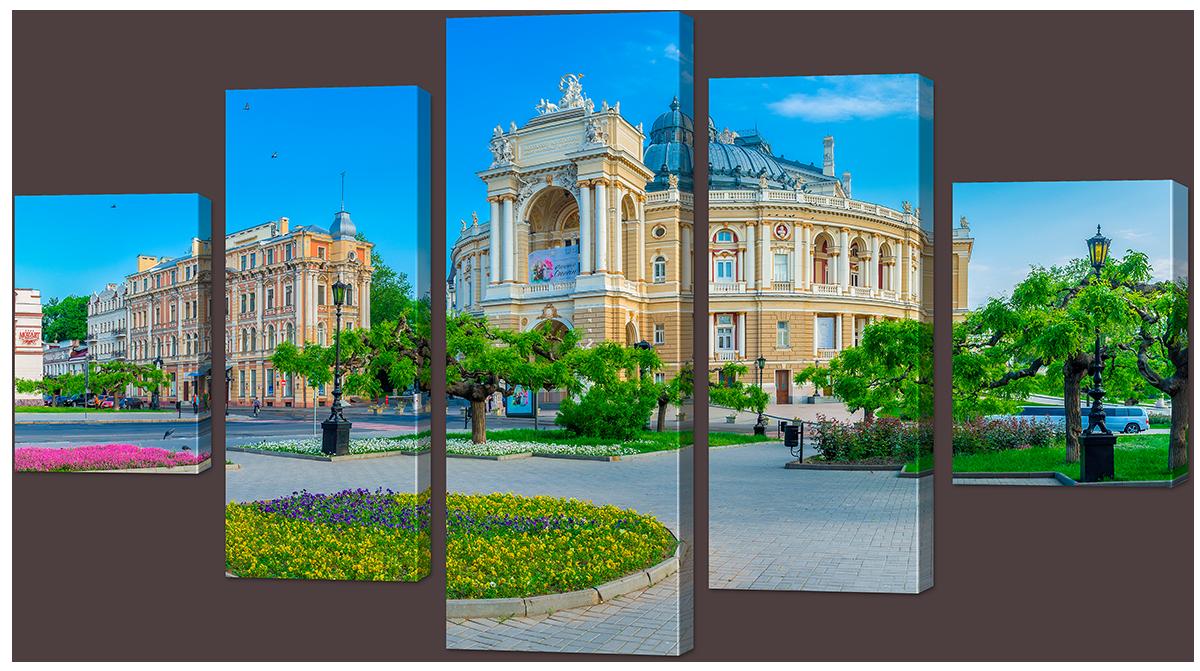 Модульная картина Interno Эко кожа Одесский театр Оперы и Балета 158х90см (А980XL)