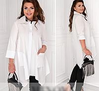 Сорочка-туніка розкльошена з кишенями, з 48-62 розмір