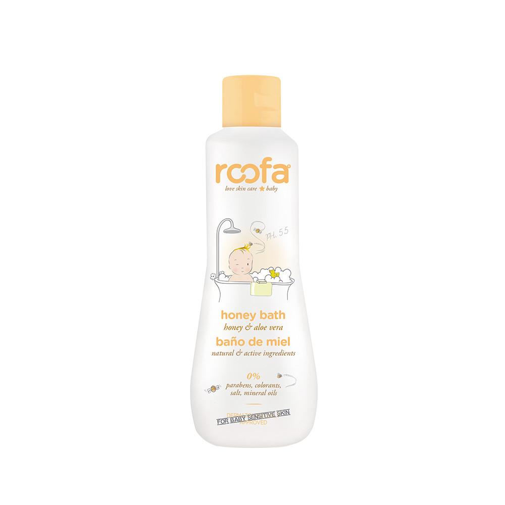 Roofa - Средство для ванны с медом (натуральное), 200 мл