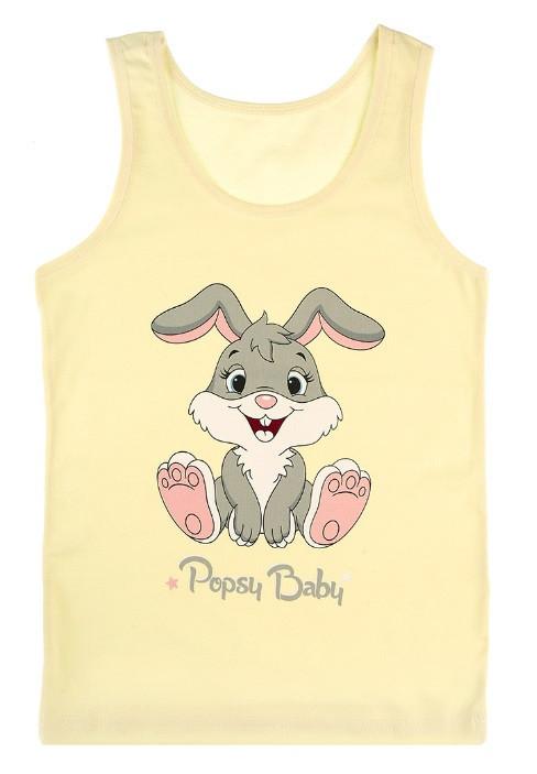"""Майка детская для девочки """"Кролик"""", 4-5 лет (рост 110-116)"""