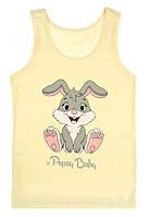 """Майка детская для девочки """"Кролик"""", 4-5 лет (рост 110-116), фото 1"""