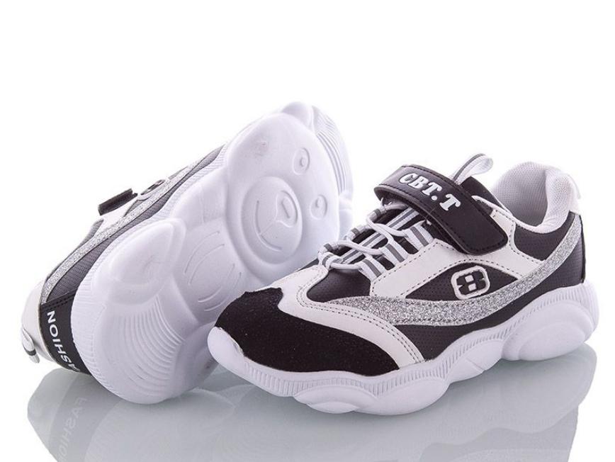 Кросівки для дівчинки CBT.T Біло-чорні Размер: 29