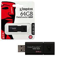 Модуль FD 64GB KINGSTON Flash Drive DT100 G3 USB 3.0, Read -100 МБ/с, Write -10МБ/с