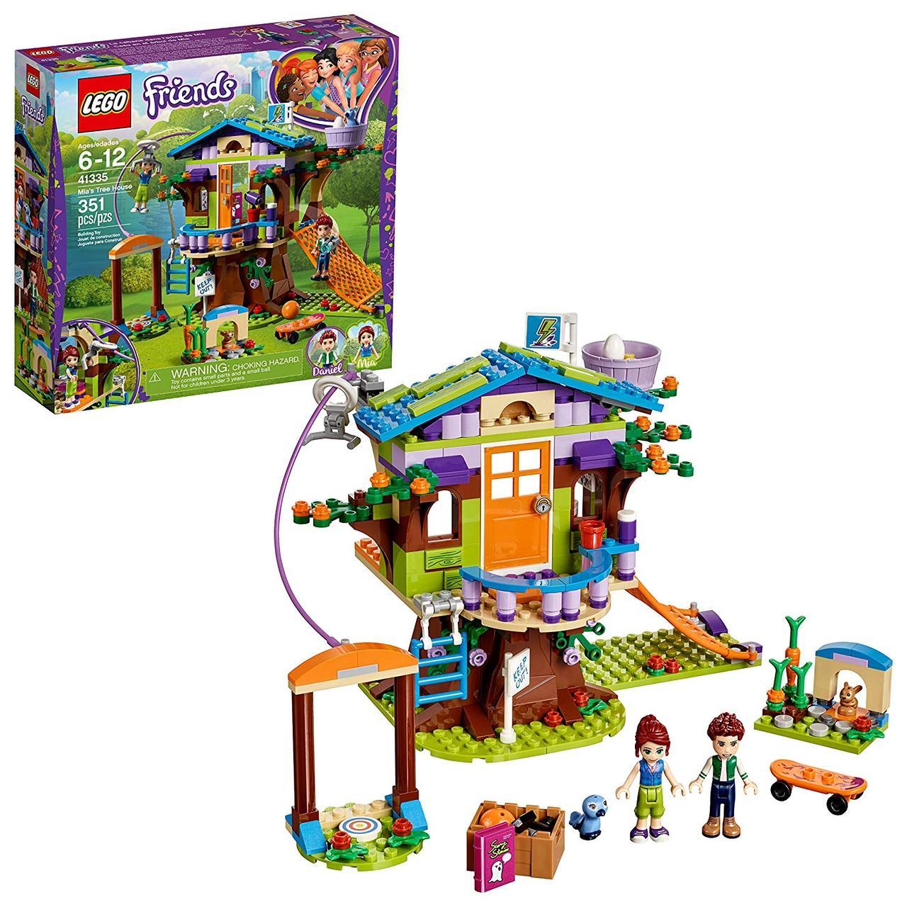 LEGO конструктор лего Домик на дереве Мии 351 деталь Friends Mia's Tree House 41335