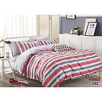Двуспальное постельное белье в яркую полоску из сатина Viluta