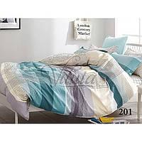 Разноцветный комплект евро постельного белья из сатина Viluta