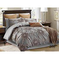 Серый полуторный комплект постельного белья из сатина Viluta