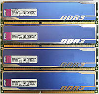Комплект оперативной памяти Kingston HyperX DDR3 16Gb (4*4Gb) 1333MHz PC3 10600U CL9 (KHX1333C9D3B1K2/8G) Б/У