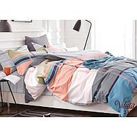 Молодежное постельное двуспальное белье из сатина Viluta в ярких цветах