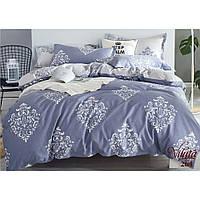 Однотонный полуторный комплект постельного белья из сатина Viluta в сером цвете