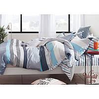 Комплект евро постельного белья из сатина Viluta в молодежном стиле серого цвета