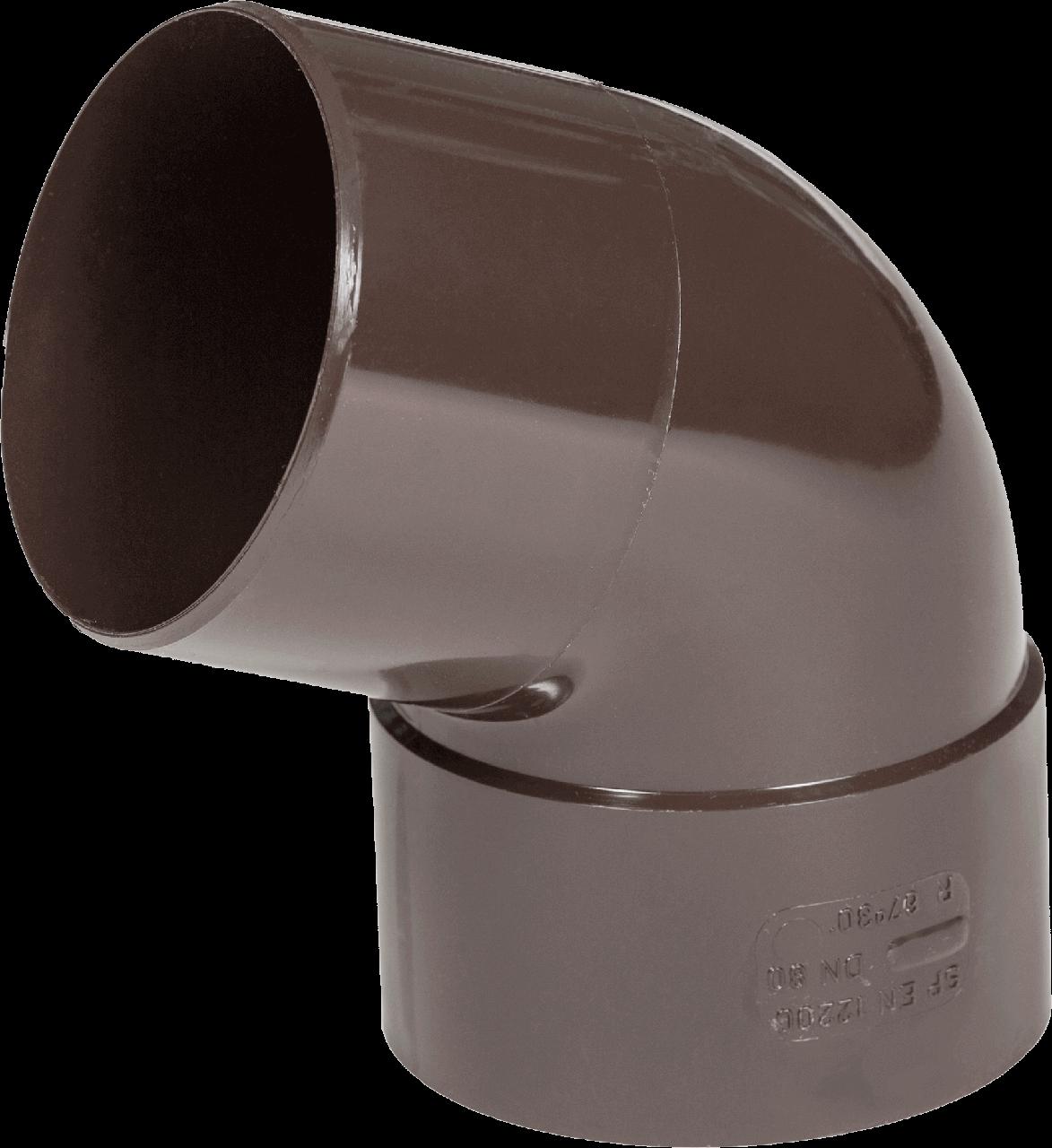 Колено Fitt 67° для трубы 80 мм, цвет коричневый