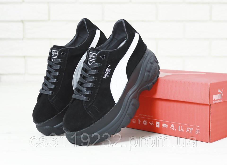 Женские кроссовки Puma Buffalo Suede London (черные)