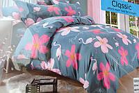 Байковый комплект постельного белья Байка ( фланель)   Фламинго