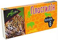 """Пластилин """"Africa"""" 6 цветов, 120 г, картон, Economix"""
