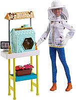 Кукла Барби Любимая профессия Пчеловод Брюнетка Barbie Beekeeper