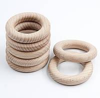 Деревянные кольца для слингобус и грызунков, бук, 60 мм, толщина 12 мм, поштучно