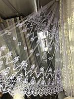 Тюль фатин красивая для зала, спальни. . №24300 Цвет: белый