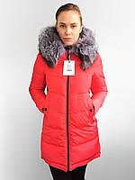 Женские пуховики с шикарным мехом чернобурки  Visdeer. Фабричный Китай - Гарантия тепла и качества. XS - XXL