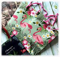 "Пакет ""Фламинго"" картон, фото 1"