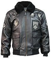 Кожаная куртка Top Gun Offical Signature Series Jacket (черная), фото 1