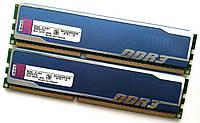 Игровая оперативная память Kingston HyperX DDR3 8Gb KIT of 2 1333MHz PC3 10600U CL9 (KHX1333C9D3B1K2/8G) Б/У