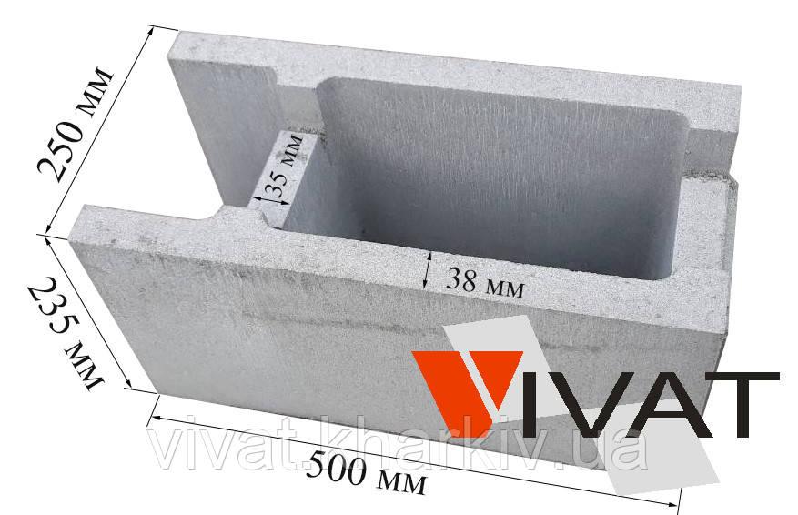 Блок несъемной опалубки 250