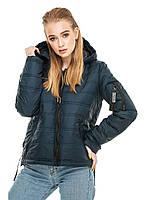 Женская короткая куртка весна-осень с капюшоном, фото 1