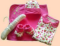 Набор одежды для новорожденных (клубничка)