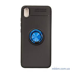 Чехол TPU Deen ColorRing с креплением под магнитный держатель Xiaomi Redmi 7A black/blue
