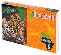 """Пластилин """"Africa"""" 8 цветов, 180 г, картон, Economix"""