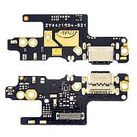 Разъём зарядки для XIAOMI Redmi Note 7 (USB Type-C) на плате с микрофоном и компонентами